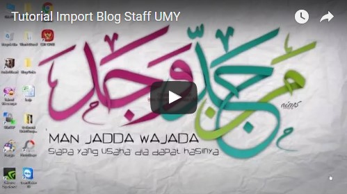 tutorial import blog staff umy